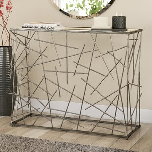 Palaestra Modern Random Sticks Design Rectangular Console Table by Orren Ellis