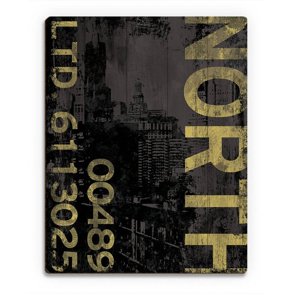 North Industry Graphic Art on Plaque by Click Wall Art