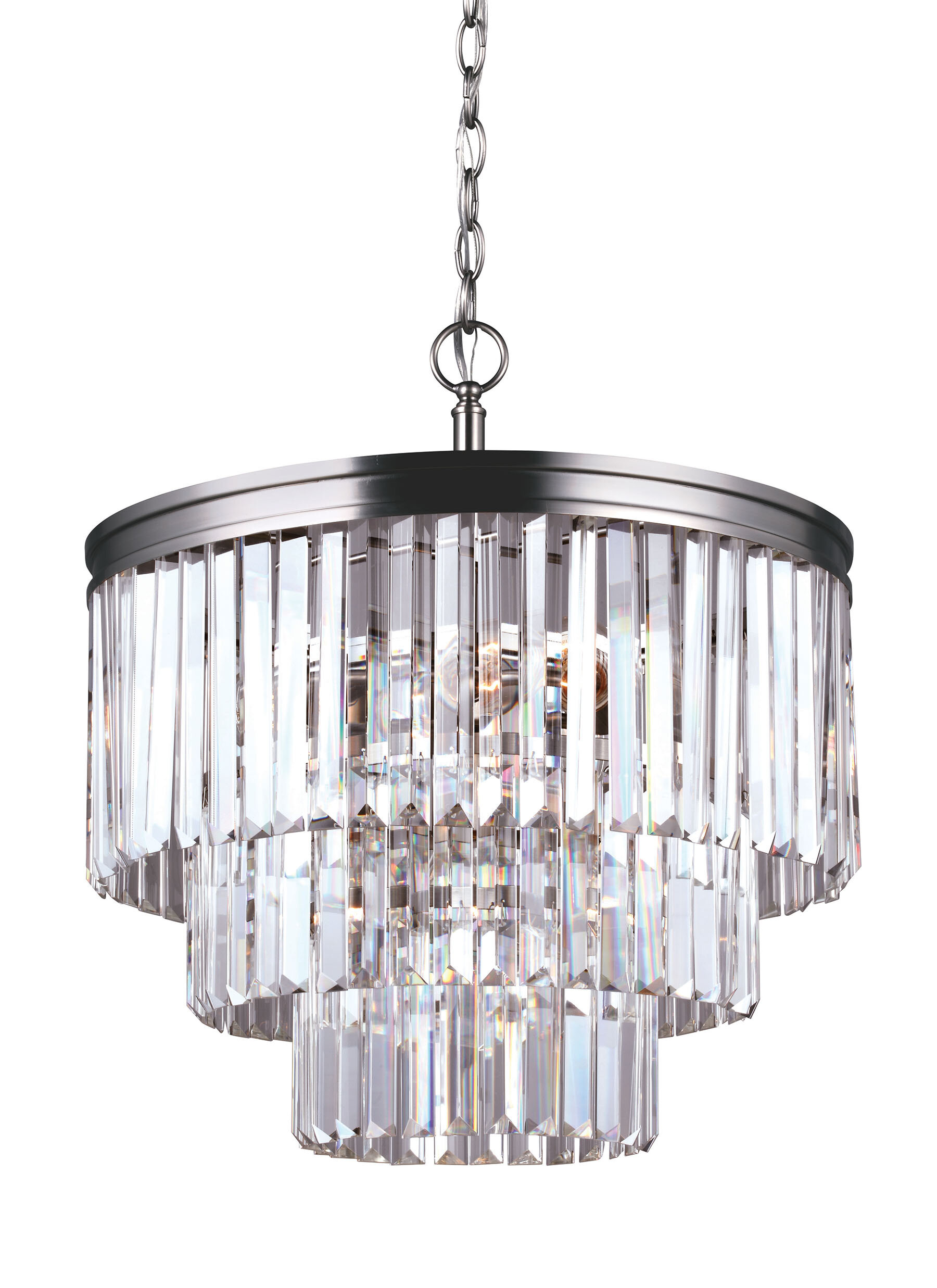 Domenique traditional 4 light crystal chandelier reviews allmodern mozeypictures Image collections