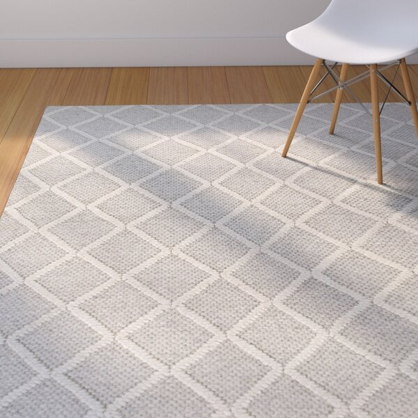 Sherwood Diamonds Hand-Tufted Gray Area Rug by Corrigan Studio