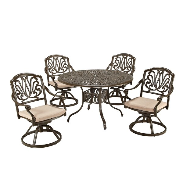 Dwight 5 Piece Dining Set with Cushions by One Allium Way