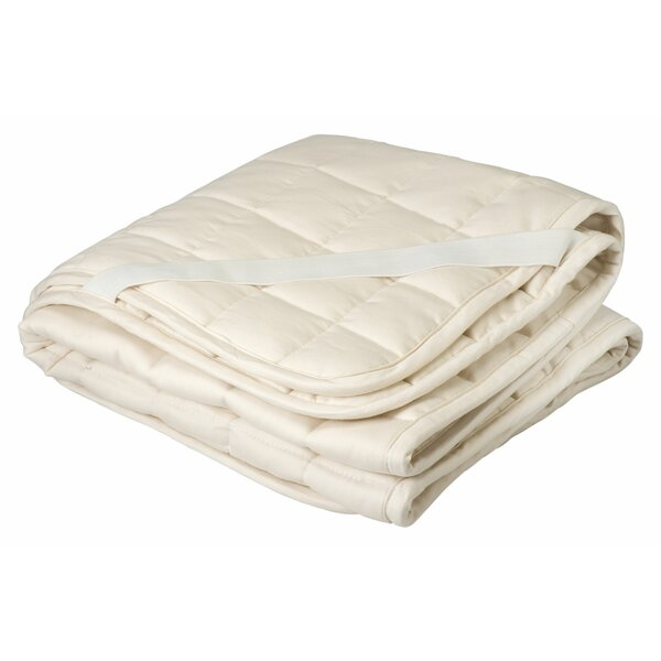 Organic Cotton and Wool Filled Crib Mattress Topper/Puddle Pad by Greenbuds
