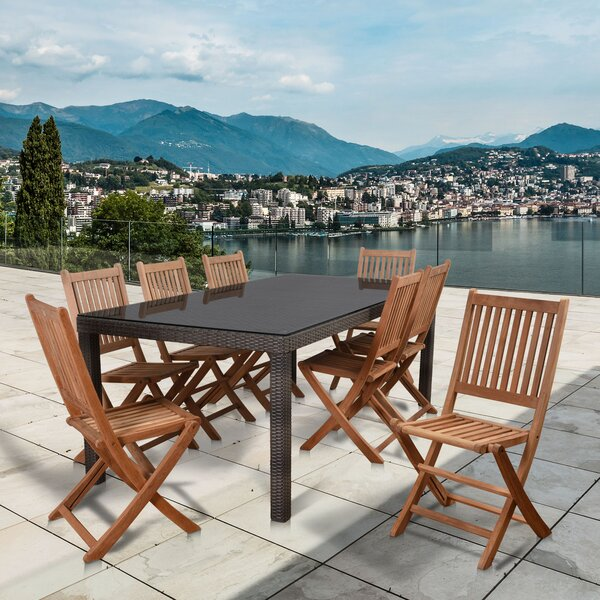 Isadora International Home Outdoor 9 Piece Dining Set by Longshore Tides
