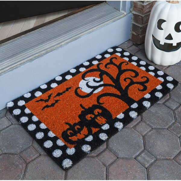 Chesley Frightful & Delightful Handwoven Coconut Fiber Doormat by The Holiday Aisle