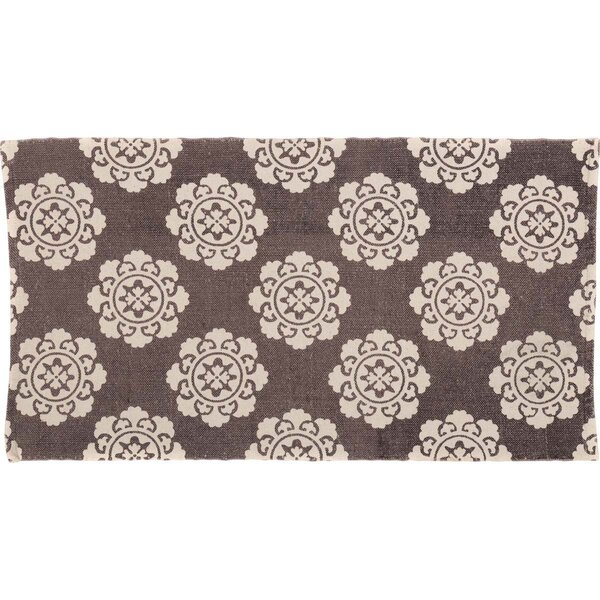 Ross Brown/Beige Area Rug by Bungalow Rose