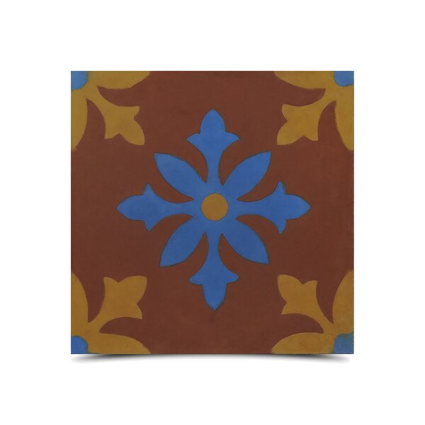 Azrou 8 x 8 Handmade Cement Tile in Multi-Color by Moroccan Mosaic