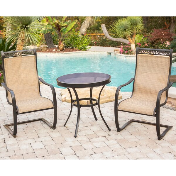 Sandefur Patio Garden 3 Piece Bistro Set