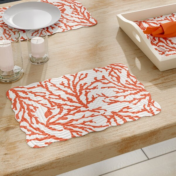 Ostrander Reversible Quilt Placemat (Set of 6) by Beachcrest Home