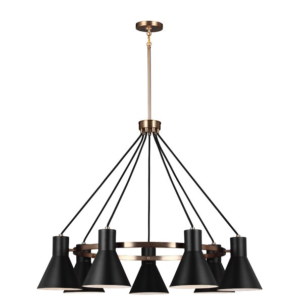 Alton 7-Light Shaded Wagon Wheel Chandelier By 17 Stories