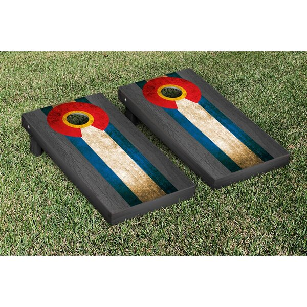Onyx Stained Stripe Version Cornhole Game Set by Victory Tailgate
