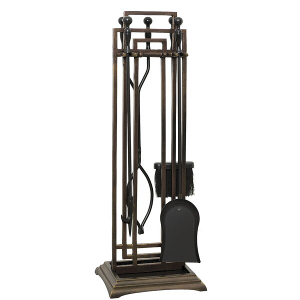 Iris 5 Piece Iron Fireplace Tool by Ornamental Designs