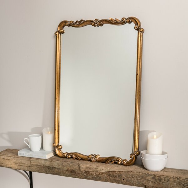 Rectangle Gold Wall Mirror by Astoria Grand