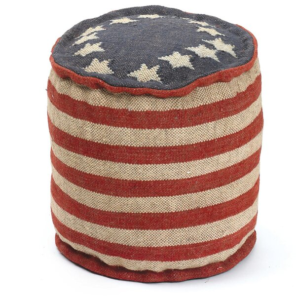 Melra Betsy Ross Pouf by August Grove