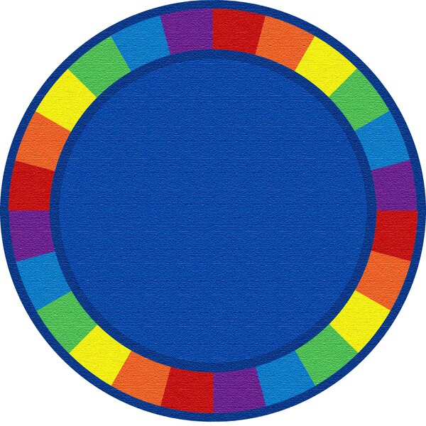 Blue Circle Area Rug by Kid Carpet