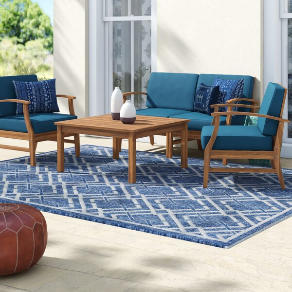 Antonia  4 Piece Teak Sofa Seating Group with Cushions by Mistana