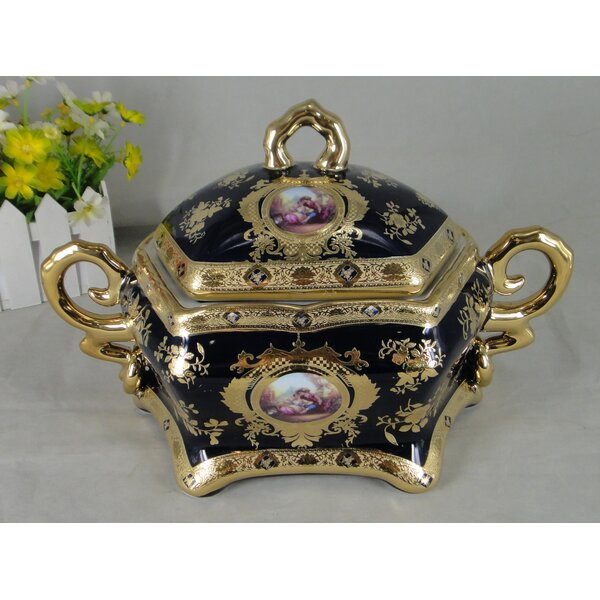 Belmore Limoges Style Porcelain Tureen with Cover by Astoria Grand