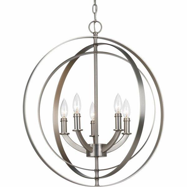 Morganti 5 - Light Candle Style Globe Chandelier by Brayden Studio Brayden Studio