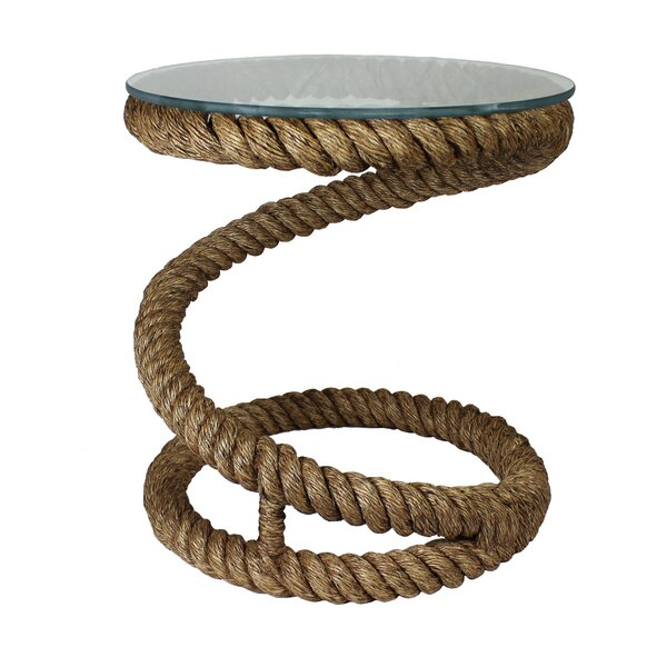 Burmeister Coastal Rope End Table by Longshore Tides