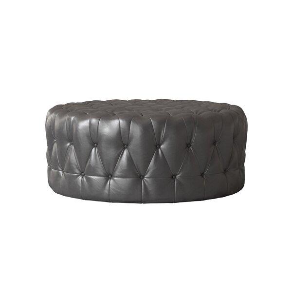 """Leather Cocktail Ottoman by Wayfair Custom Upholsteryâ""""¢"""