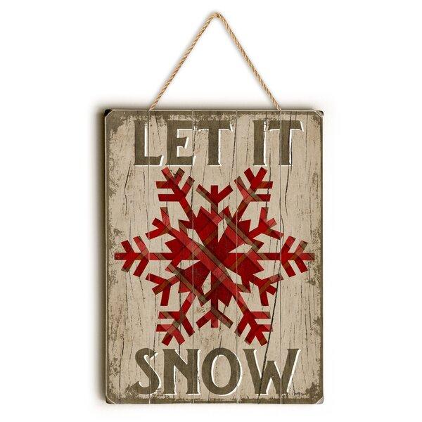 Let It Snow Textual Art by Loon Peak