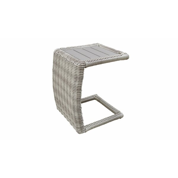 Delmonte Wicker/Rattan Side Table by Highland Dunes