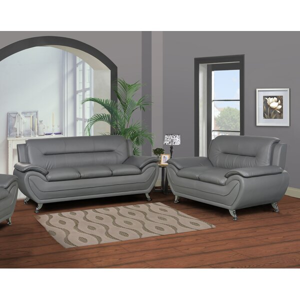 Polston Modern 2 Piece Living Room Set by Latitude Run