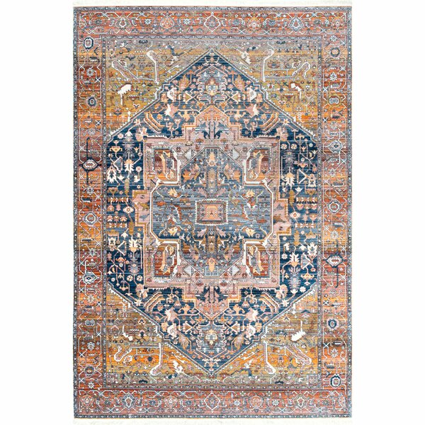 Artemas Rust Area Rug by World Menagerie