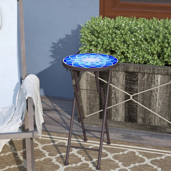 Ruhlman Folding  Stone/Concrete Side Table by Charlton Home
