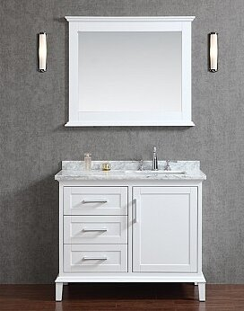 Sunderland 42 Single Bathroom Vanity Set with Mirror by Latitude Run