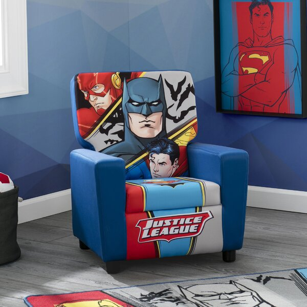 DC Comics Justice League High Back Upholstered Chair by Delta Children