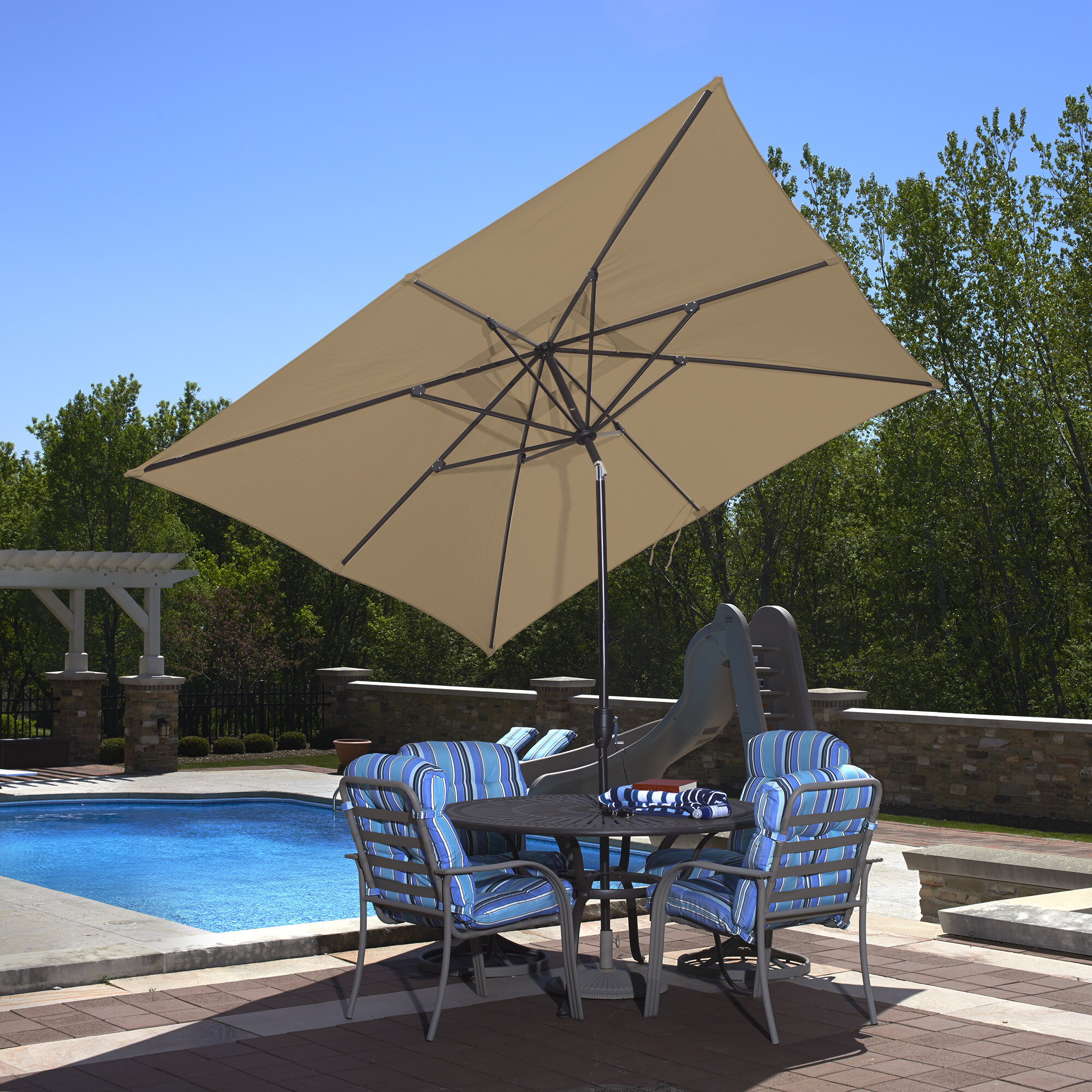 Blue Wave 10 X 8 Rectangular Market Umbrella & Reviews