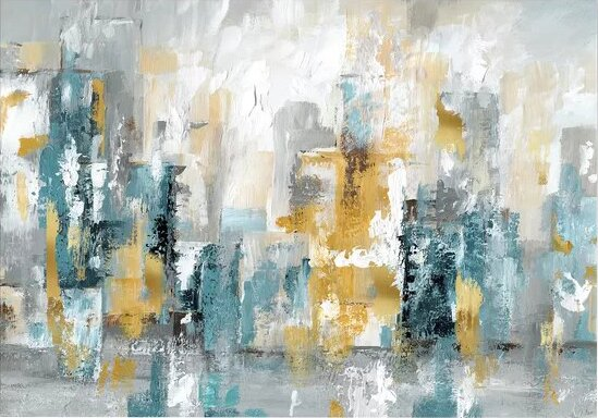 City Views Ii Painting Print On Wrapped Canvas By Ebern Designs.
