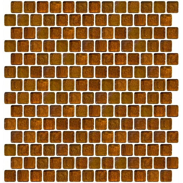 Iridescent Offset 0.75 x 0.75 Glass Mosaic Tile in Brown by Susan Jablon