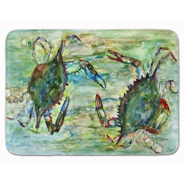 Crab Standoff Memory Foam Bath Rug