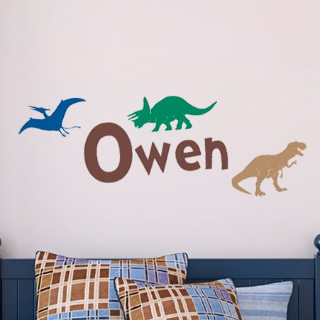 4 Piece My Dinos Wall Decal Set by Sissy Little