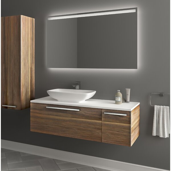 Itko 47 Wall-Mounted Single Bathroom Vanity Set with Mirror by Orren Ellis