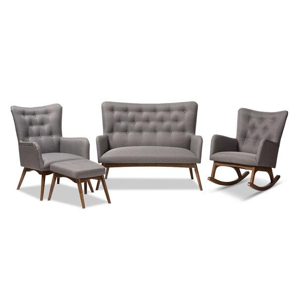 Centreville 4 Piece Standard Living Room Set by George Oliver