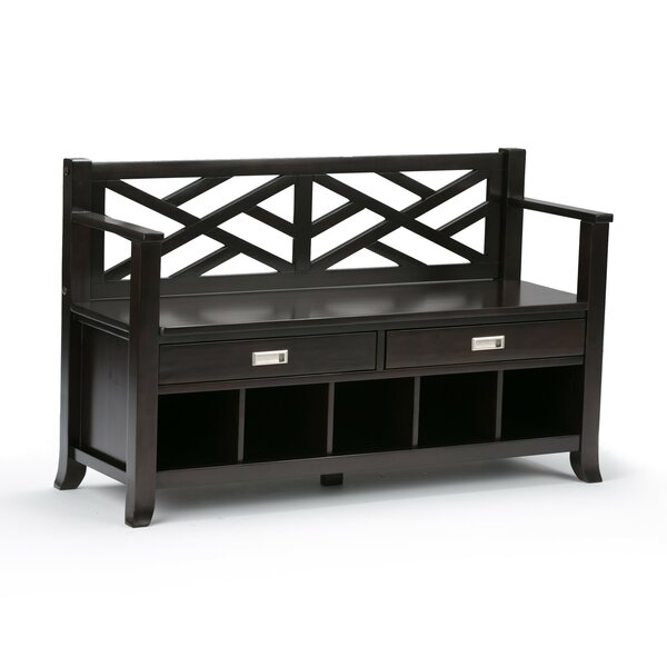 Osterberg Solid Wood Storage Bench by Charlton Home