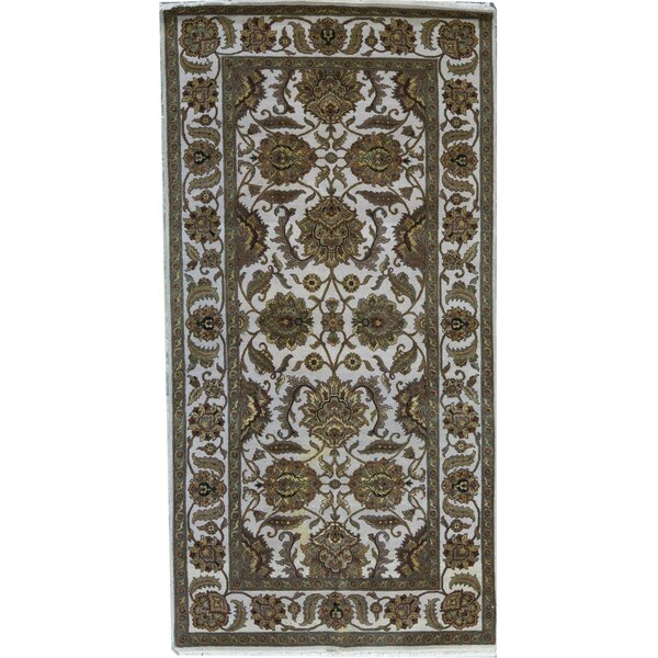 Hand-Knotted Wool Ivory Rug