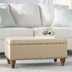Compare prices Oakford Upholstered Storage Bench By Alcott Hill