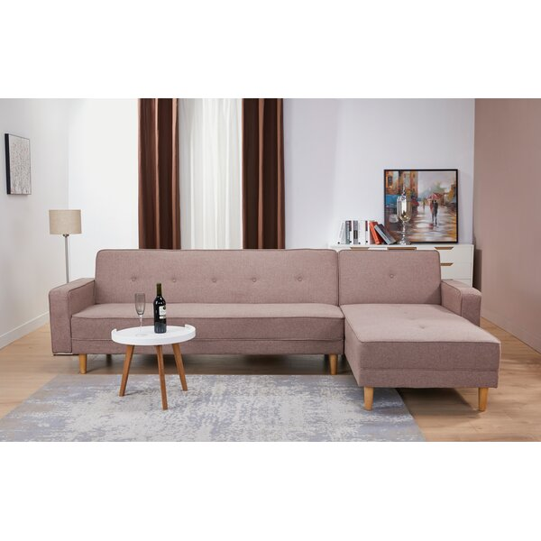 Lawrence Hill Convertible Reversible Reclining  Sectional by Union Rustic