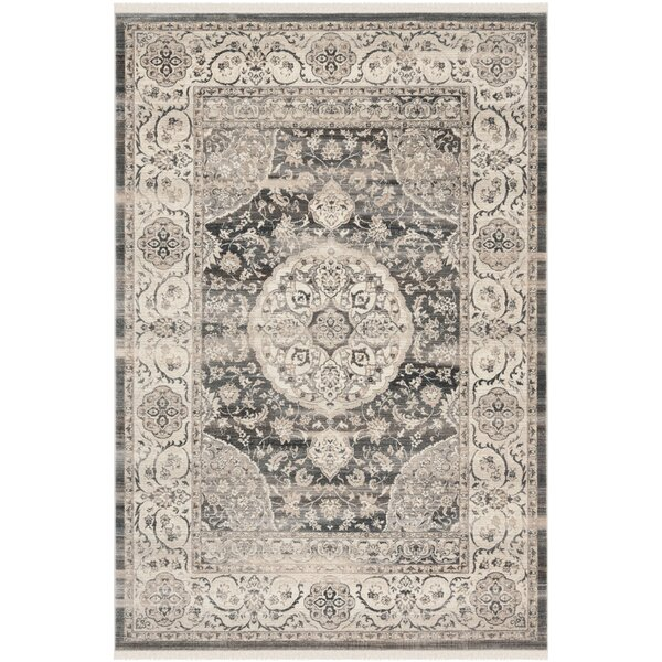 Bella Dark Gray/Ivory Area Rug by Bungalow Rose