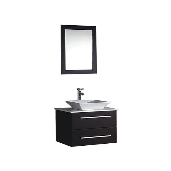 Bosarge 24 Single Sink Wall Mounted Bathroom Vanity Set With Mirror Allmodern