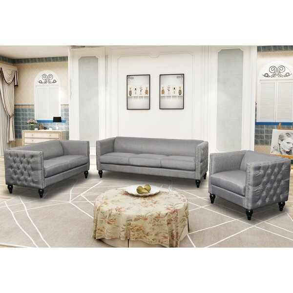 Annuziata 3 Piece Living Room Set by House of Hampton
