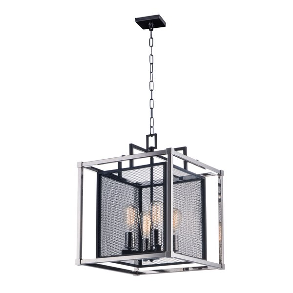Eligah 4 - Light Lantern Square Chandelier By Williston Forge