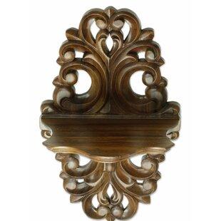 Colonial Elegance Parota Wood Wall Shelf by Novica