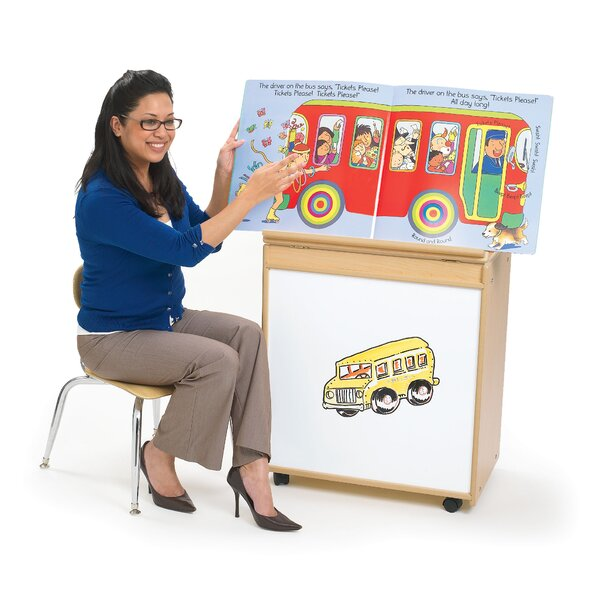 Value Line Double Sided Teaching Cart with Casters by Angeles