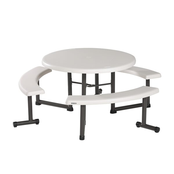 Round Steel Picnic Table by Lifetime