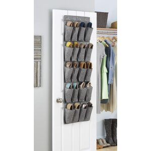 Whitmor 20 Pocket 10 Pair Overdoor Shoe Organizer