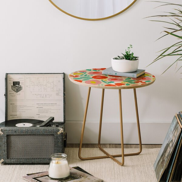 Zoe Wodarz Delightful Floral End Table by East Urban Home